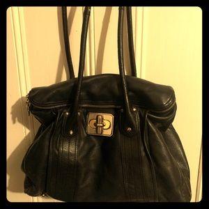 Large B. Makowsky Leather Shoulder Bag w/ pockets